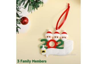 2020 Xmas Family Santa Christmas Tree Hanging Family Ornament Decorations Gifts-3