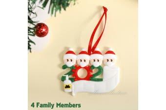 2020 Xmas Family Santa Christmas Tree Hanging Family Ornament Decorations Gifts-4