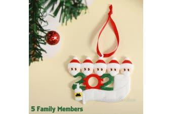 2020 Xmas Family Santa Christmas Tree Hanging Family Ornament Decorations Gifts-5