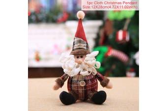 Christmas Doll Ornament Decoration Santa Claus Snowman Elk Xmas Party Table Gift-Dolls-SantaClaus