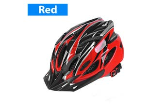 Bicycle Helmet Road Mountain Bike Adjustable Safety Shockproof Light Weight-Red