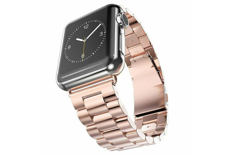For Apple Watch Iwatch Series 5 4 3 2 1 Stainless Steel Watch Band For 38mm Rose Gold Kogan Com