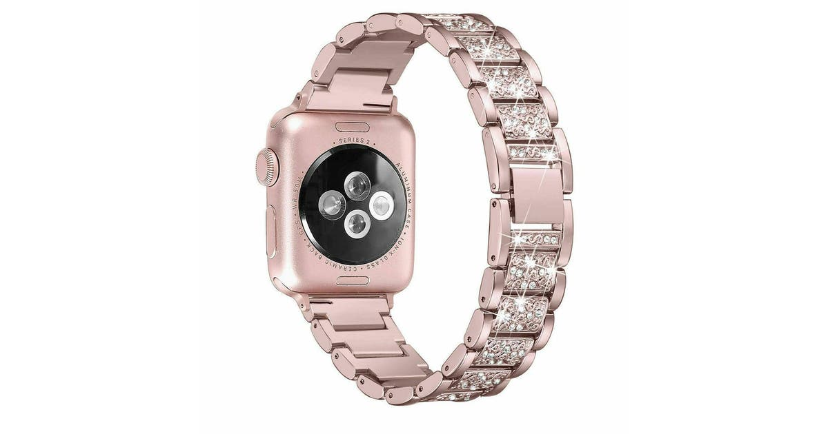 Dick Smith Oz Apple Watch Series 5 4 321 44mm Stainless Steel Bracelet Iwatch Band Strap Rosegold Watch Accessories