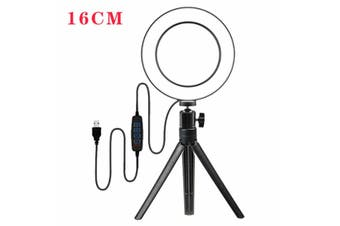 6 Inch Phone Selfie Ring Light with Stand Dimmable For Makeup Video Shooting Live LED