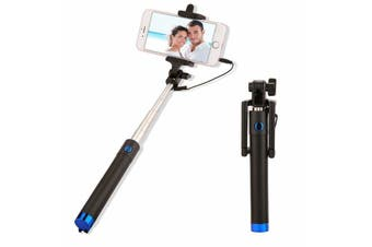 Extendable Selfie Stick Phone Holder Remote Shutter Monopod For Samsung iPhone X-Blue