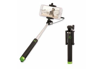 Extendable Selfie Stick Phone Holder Remote Shutter Monopod For Samsung iPhone X-Green