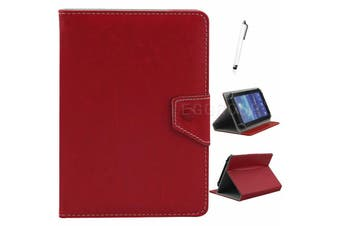 AU Univeral For Samsung Galaxy Tablet Leather Folio Stand Case Cover For Tab S2 9.7 SM-T810 T815-Red