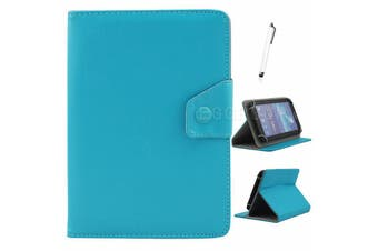 AU Univeral For Samsung Galaxy Tablet Leather Folio Stand Case Cover For Tab S2 9.7 SM-T813 T819C-Cyan
