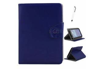 AU Univeral For Samsung Galaxy Tablet Leather Folio Stand Case Cover For Tab S2 9.7 SM-T813 T819C-Dark Blue