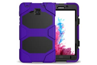 For Samsung Galaxy Tab A 8.0'' T350 T355 ShockProof Hybrid Tablet Case Cover-Purple