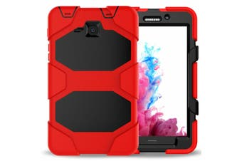 For Samsung Galaxy Tab A 8.0'' T350 T355 ShockProof Hybrid Tablet Case Cover-Red