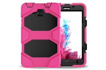 """For Samsung Galaxy Tab A 8"""" T385/T380(2017) ShockProof Hybrid Tablet Case Cover-RoseRed"""