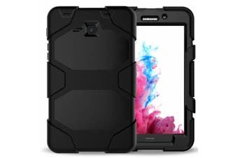 For Samsung Galaxy Tab A 9.7 T550/T555 ShockProof Hybrid Tablet Case Cover-Black