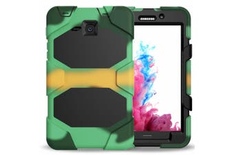 For Samsung Galaxy Tab A 9.7 T550/T555 ShockProof Hybrid Tablet Case Cover-Camouflage