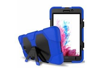 For Samsung Samsung Galaxy Tab A A2 7.0 T280 T285 ShockProof Hybrid Tablet Case Cover-Blue