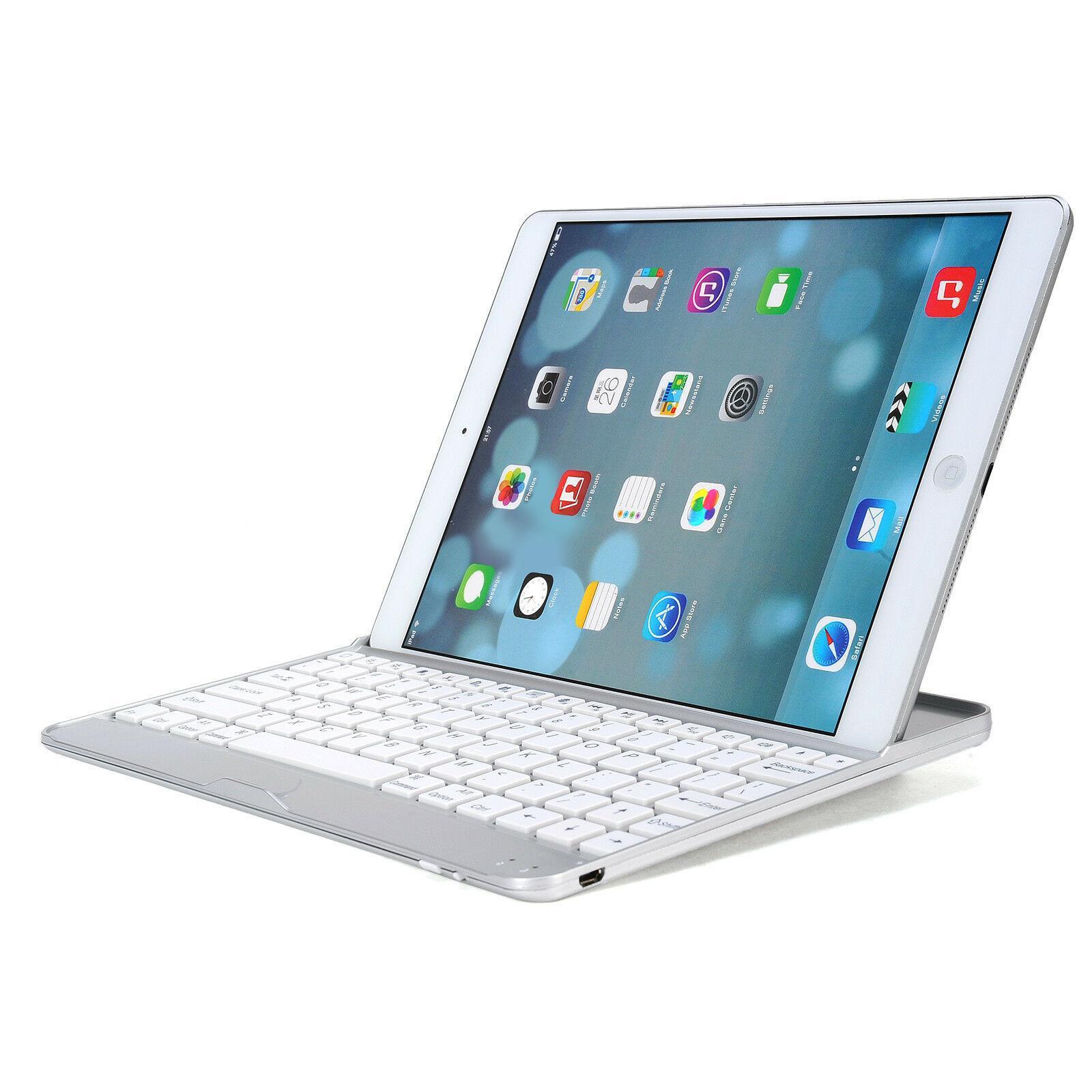 Aluminum Bluetooth Wireless Keyboard Cover CaseFor iPad 2/3/4-White