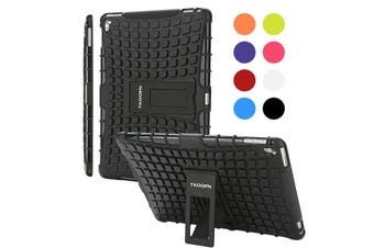 Kids ShockProof Case Heavy Duty Tough Kick Stand Cover For iPad Air-Type2-BlackBlack