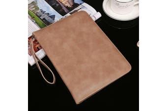 Genuine Luxury Leather Case Cover for Apple iPad Air-Apricot