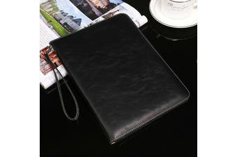 Genuine Luxury Leather Case Cover for Apple iPad Air-Black