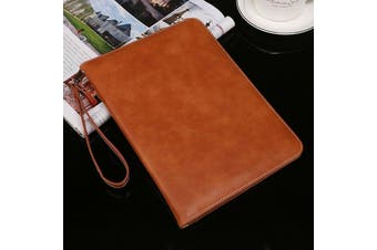Genuine Luxury Leather Case Cover for Apple iPad Air-Brown