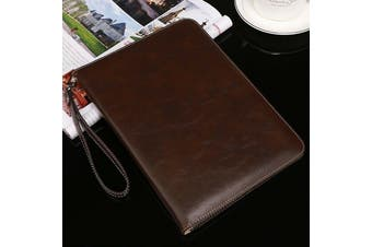 Genuine Luxury Leather Case Cover for Apple iPad Air-Coffee