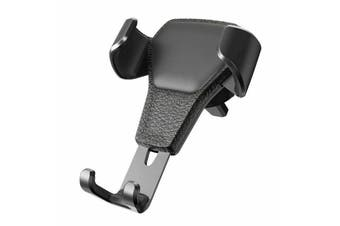 Universal Gravity Car Holder Mount Air Vent Stand Cradle For Mobile Cell Phone iPhone XR-Black