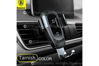 Baseus Qi Wireless charger Car Air Vent Mount Phone Holder iPhone Samsung Huawei-Tarnish