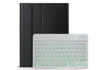 Backlit Bluetooth Keyboard Case For iPad 9.7 2018+Pencil Holder-Black/White