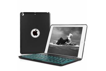 "Backlit Bluetooth Keyboard Folio Stand Case For 7th Gen 10.2"" 2019-Black"