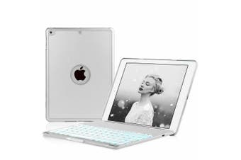 """Backlit Bluetooth Keyboard Folio Stand Case For iPad 9.7"""" 6th/5th Gen-Sliver"""