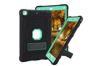 For iPad 6th Gen 9.7 2018 Kids Shockproof Protective Hard Case Cover A1893 A1954-Black Mint