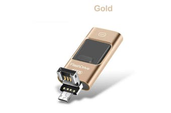 i Flash Drive Disk Storage Memory Stick For iPhone iPad PC IOS Android 128GB-Gold