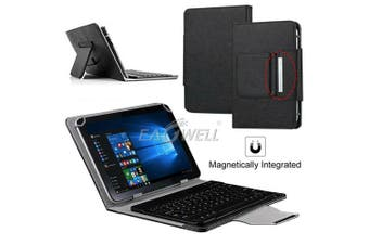 For Samsung Galaxy Tab A 8.0 2017 T380 Tablet Stand Case Bluetooth Keyboard Cover-Black