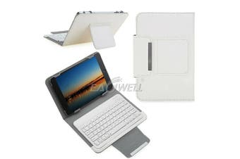For Samsung Galaxy Tab A 8.0 2019 T290 Tablet Stand Case Bluetooth Keyboard Cover-White