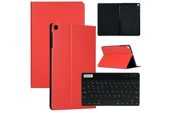 For Samsung Galaxy Tab A 10.1 SM-T510 SM-T515 Tablet Keyboard Leather Case Cover-Red(Case+Keyboard)