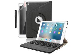 For iPad 9.7 6th Gen/2018 5th 2017 Air 2/1 Pro Leather iPad case iPad 6th 9.7 Inch 2018-Black