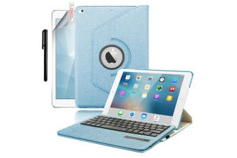 For iPad 9.7 6th Gen/2018 5th 2017 Air 2/1 Pro Leather iPad case iPad 6th 9.7 Inch 2018-Blue