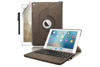 For iPad 9.7 6th Gen/2018 5th 2017 Air 2/1 Pro Leather iPad case iPad 6th 9.7 Inch 2018-Brown