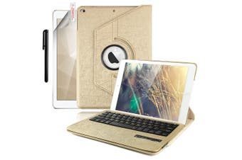 For iPad 9.7 6th Gen/2018 5th 2017 Air 2/1 Pro Leather iPad case iPad 6th 9.7 Inch 2018-Gold