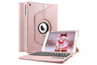 For iPad 9.7 6th Gen/2018 5th 2017 Air 2/1 Pro Leather iPad case iPad 6th 9.7 Inch 2018-RoseGold