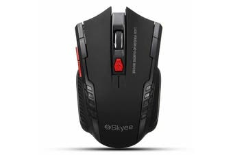 2.4GHz 6D 2000 DPI USB Wireless Optical Gaming Mouse Mice for Laptop Desktop PC-Black