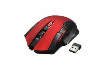 2.4GHz 6D 2000 DPI USB Wireless Optical Gaming Mouse Mice for Laptop Desktop PC-Red