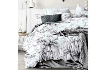 King Single Bed Ultra Soft Quilt Duvet Doona Cover Set Bedding Pillowcase Marble