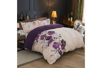 Bed Ultra Soft Quilt Duvet Doona Cover Set Sheet Pillowcase Floral-King Single