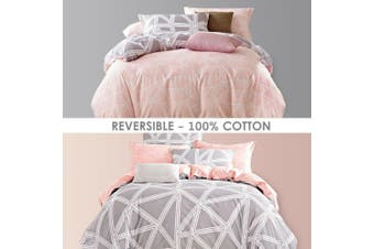 Bed Quilt Duvet Doona Cover Set 100% Cotton Bedding Pillowcase-King Single