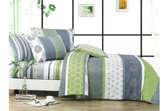 2020 New Double Size Bed Doona Quilt Duvet Cover Set 100% Cotton Premium Bedding-Dexter