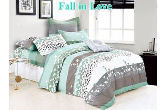 2020 New Double Size Bed Doona Quilt Duvet Cover Set 100% Cotton Premium Bedding-Fall in Love