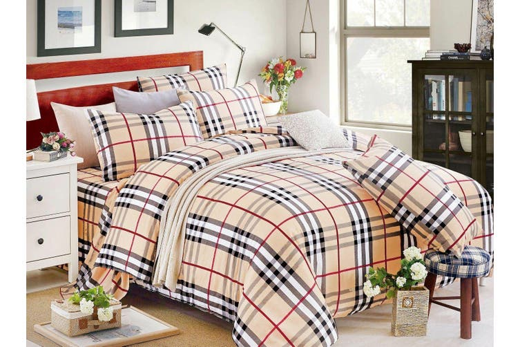 2020 New King Size Bed Doona Quilt Duvet Cover Set 100% Cotton Premium Bedding-Bubbery