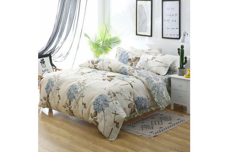 2020 New King Size Bed Doona Quilt Duvet Cover Set 100% Cotton Premium Bedding-Dandelion