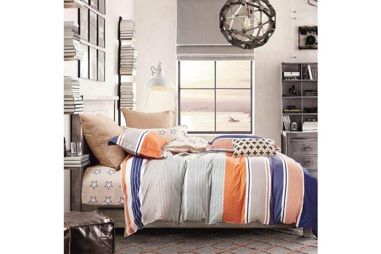 2020 New King Size Bed Doona Quilt Duvet Cover Set 100% Cotton Premium Bedding-Moka